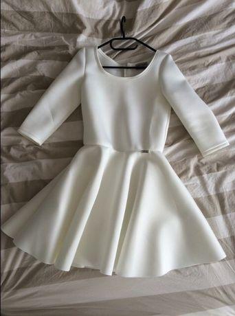 Sukienka na komunię wesele biała krótka