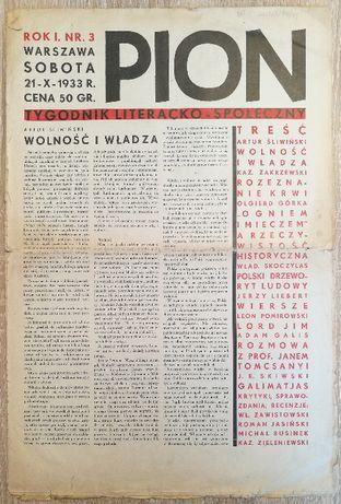 PION tygodnik literacko-społeczny 1933/37/38r