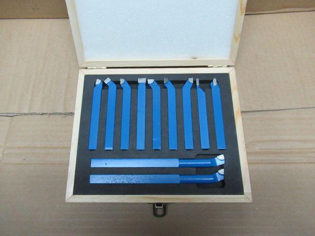 Komplet Noży Tokarskich NOWY 10x10 Zestaw 11el Nóż Tokarski Prawy Lewy