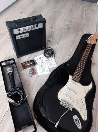 Gitara elektryczna Lentamente + akcesoria
