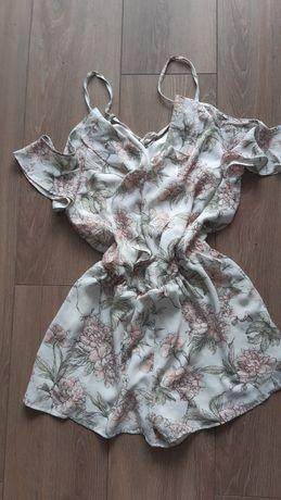 Kombinezon sukienka spodenki bluzka na ramiączkach