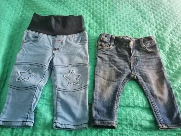 Jeansy chłopięce rozmiar 68