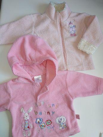 Флисовая кофта куртка джемпер на девочку 2-6 мес США
