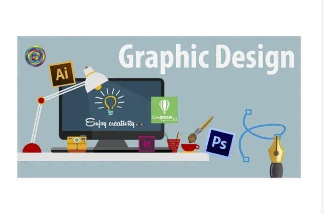 Grafika reklama wizytowki baner ulotki plakat grafik