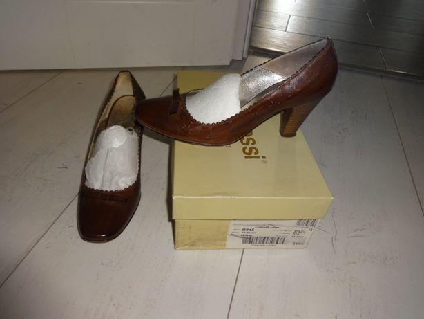 pantofle gino rossi prawie nowe 37, brazowe