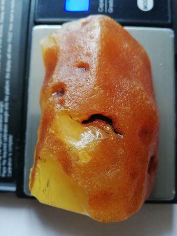 Bursztyn surowy bałtycki 57, 6g  (B7)