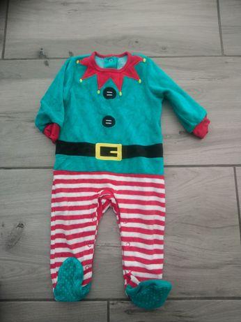 Pizamka spiochy pajac elf świąteczny primiark 80