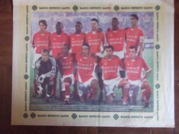 BENFICA Poster Equipa de 2001/2002 (Oferta Banco Espírito Santo)