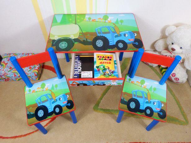 """Детский столик и стул """"Синий Трактор"""" (стол-парта стульчик ) от1-7лет"""