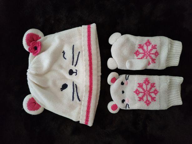 Комплект шапка и рукавицы 12-18 месяцев Gymboree