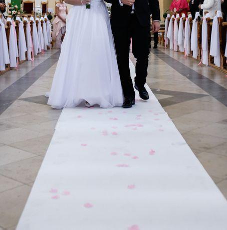 Biały dywan ślub, wesele, do kościoła