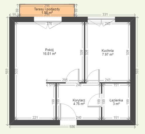 Mieszkanie z wielkim potencjałem- 1 piętro- balkon