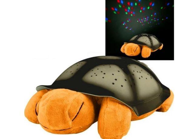 Игрушка детская Музыкальная черепаха Светильник ночник проектор звезд