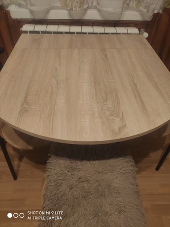 Stół/stolik rozkładany dąb sonoma 85,5 x 80 cm