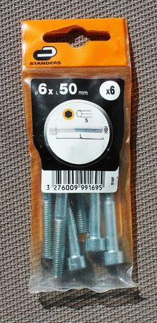 Kit de 6 parafusos de aço zincado da Standers (NOVO E SELADO)