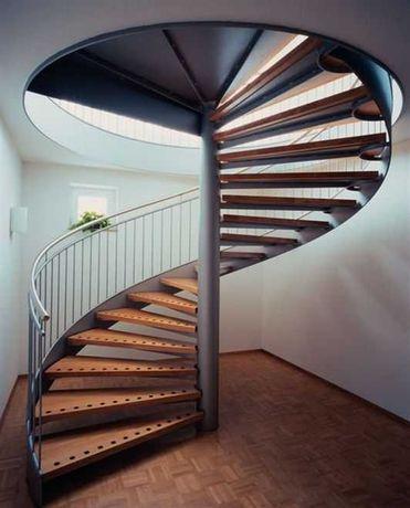 Лестница винтовая с встроеной мебелью Межэтажная металлическая сварная