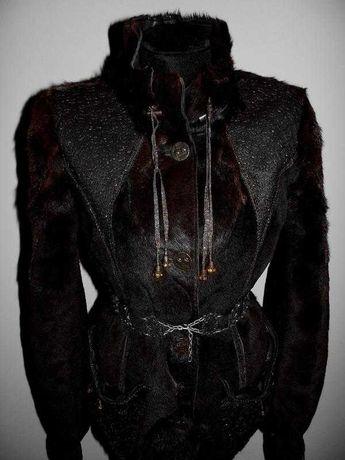 Куртка из меха пони , натуральная меховая дубленка р.с-м