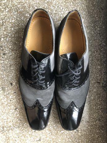 Viktor&Rolf H&M męskie buty lakierki zamszowe skórzane
