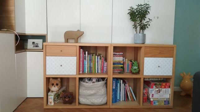 Szafka IKEA w naturalnej okleinie drewnianej. Typu Kallax