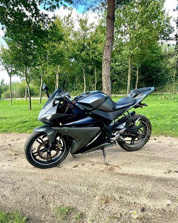 Yamaha YZF 125/50 bez prawa jazdy, na kategorie AM, na dowód osobisty