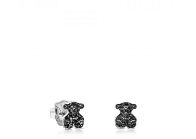 Tous kolczyki Motif Silver srebro 925 spinele 7.5mm