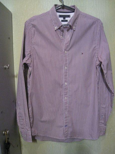 стильная приталенная мужская рубашка TOMMY HILFIGER разм. М