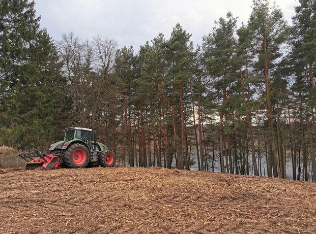 mulczer leśny mulczowanie frezowanie usuwanie zakrzaczeń