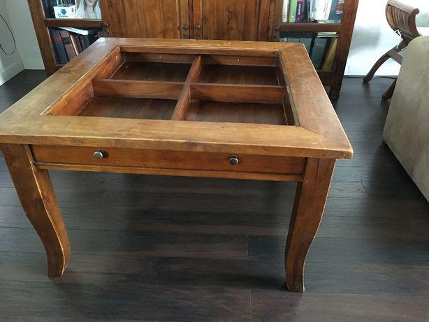 stolik z drewna tekowego 90X90 Inne meble