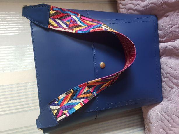 Nowa skórzana torebka duża