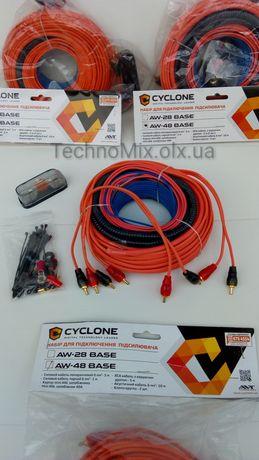Для 4-х канального усилителя набор проводов Cyclone
