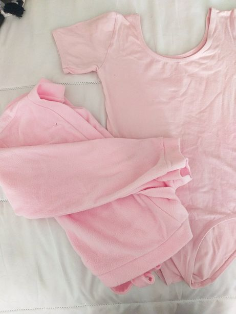 Conjunto ballet maillot + casaco (portes já incluídos no preço)