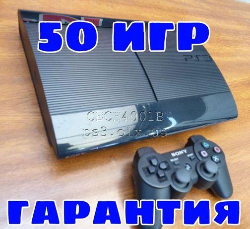 PS3 Super slim 500ГБ Модель CECH4001B + 43 игры Playstation гарантия