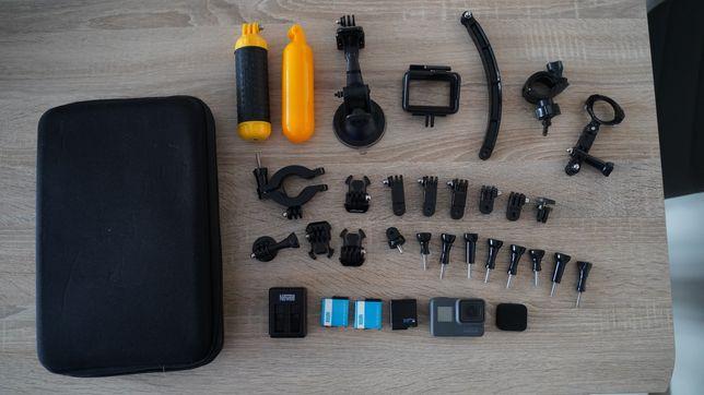 Kamera Gopro Hero 6 Black, sprawna, 3 baterie+akcesoria