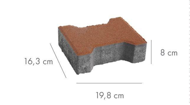 Kostka brukowa Libet Podwójne T grubość 8cm