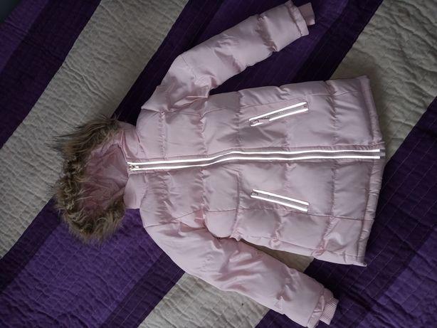 Ciepła długa kurtka zimowa 116