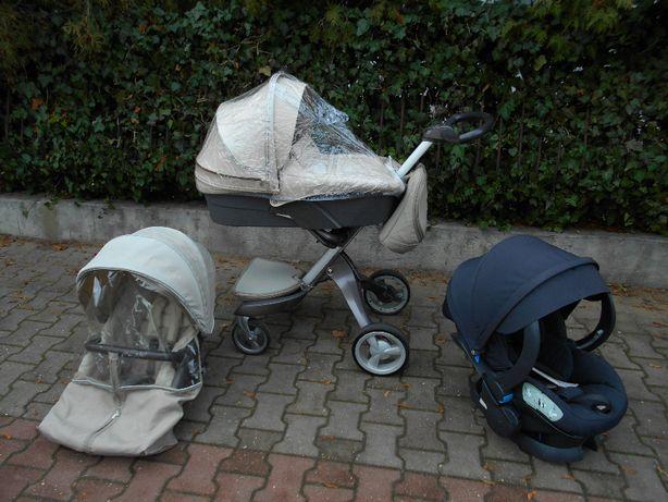 Wózek 3w1 Stokke Xplory fotelik Be Safe dodatki