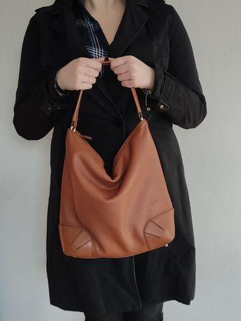 Furla pojemna torebka torba brąz/camel ze skóry