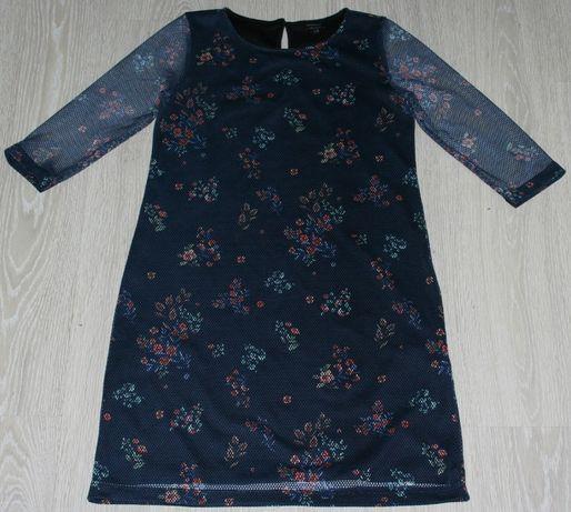 Sukienka siateczka Reserved L 40 motyw kwiatowy litera A j. nowa!