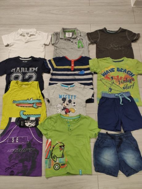 Zestaw ubrań chłopięcych na cały rok rozmiar 92 spodnie bluzy softshel