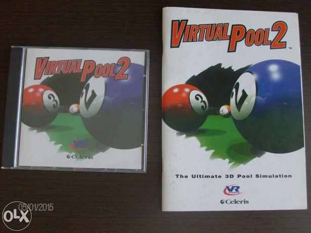 """Jogo pc de snooker """" Virtual Pool 2"""" original, impecável"""