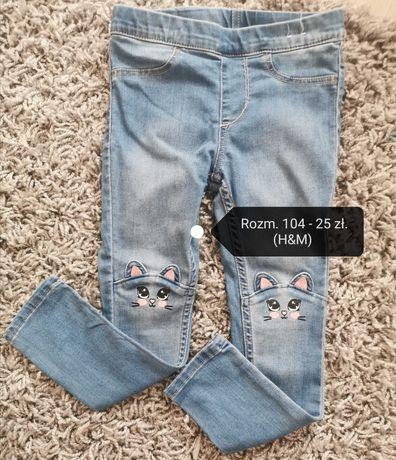 Spodnie skinny jeansowe H&M 104