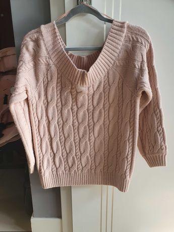 Piekny Rozowy Sweter Warkocz Mohito Zara Reserved M Zapraszam