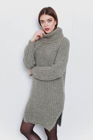 Актуальное в этом сезоне платье-свитер