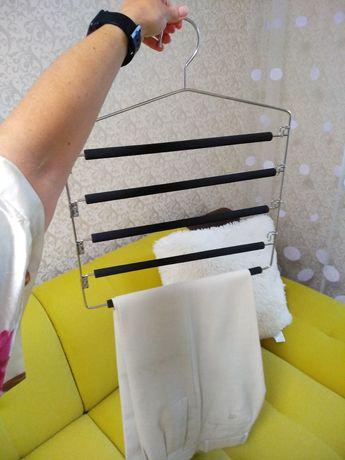 Вешалка тремпель для брюк на 5 шт. Металл плечики для гардероба