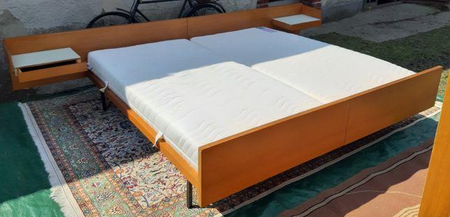 Lata 70-te, łóżko, sypialnia 200x200 materac, szafka nocna.Nowa cena!