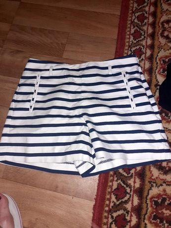 шорты джинсовые кружево трикотаж  белые стразы