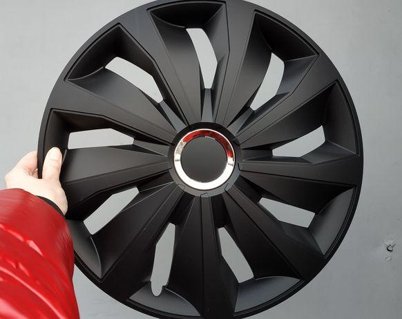 Колпаки на колеса R13 R14 R15 R16 Grip pro black черные ковпаки чорні