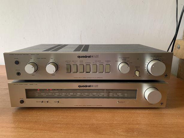 Quadral T-101 + L-101 # wzmacniacz stereo # Tuner FM # luxman