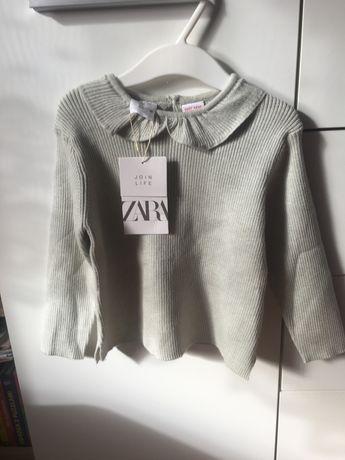 Sweter z kolnierzykiem Zara 98 nowy