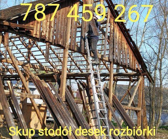 Skup starego drewna stodoły stare deski stodola rozbiorka stare drewno
